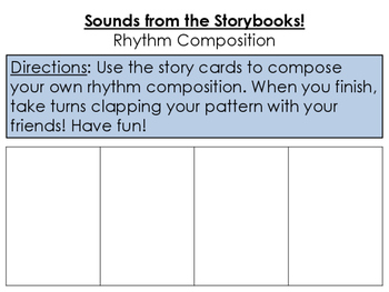 Storybook Rhythm Composition Cards - There Was An Old Woman Who Swallowed a Frog