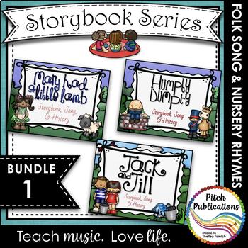 Storybook Series -{ BUNDLE 1} Mary Had a Little Lamb, Jack & Jill, Humpty Dumpty