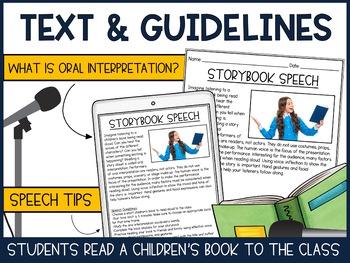Storybook Speech - Public Speaking