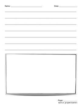 Storybook Writing Pages - Differentiated Printable