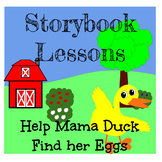 StorybookLesson:Mother Duck: Read-along Rebus, Simple addition, learning Letters