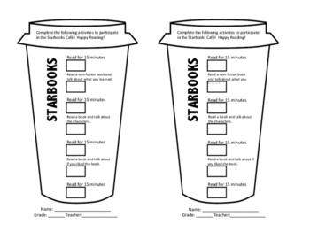 Starbooks Cafe Reading Logs