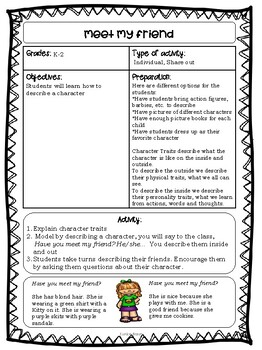 Storytellig Drama activities for K-2nd graders