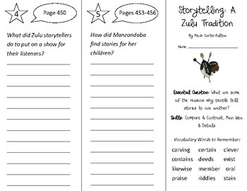 Storytelling: A Zulu Tradition Trifold - Open Court 2nd Grade Unit 6 Lesson 5