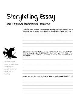 Storytelling Essay Bundle