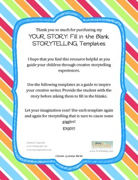 Storytelling: Fill in the Blank!