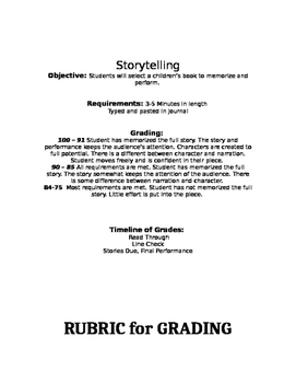 Storytelling Performance Project