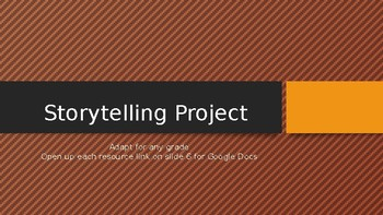 Storytelling Project (Narrative, Halloween, Myths, Legends, Resources/Rubric)