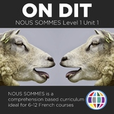 Nous sommes Unit 01: On dit - for French 1 (4 days)