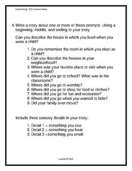 Storytelling Workshop for ESL Camp