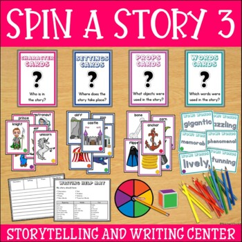 Story Starters Set 3 | Story Elements Cards | Writing Center Activities