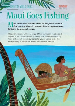 Storytime New Zealand Pack - Maui Goes Fishing