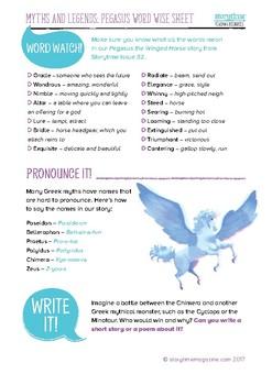 Storytime Pegasus Greek Myth Pack