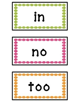 Storytown 1st Grade Word Wall - High Frequency Words