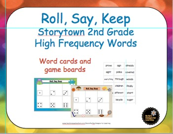 Storytown 2nd Grade High Frequency Words Roll, Say, Keep Game
