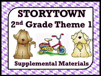 """Storytown 2nd Grade Theme 1 """"Count on Me"""" Resources"""