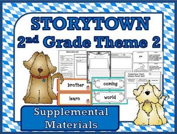 Storytown 2nd Grade Theme 2 ~ 2008 version Supplemental Resources Bundle