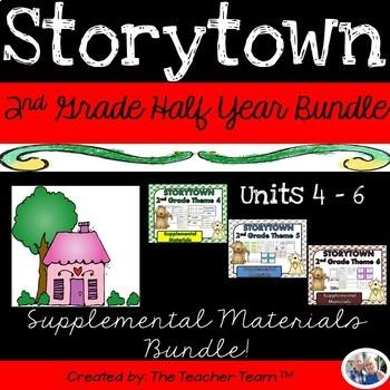 Storytown 2nd Grade Unit 4-5-6 Half Year Resources
