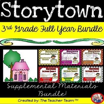 Storytown 3rd Grade Full Year Bundle Theme 1 Theme 6