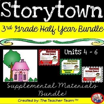 Storytown 3rd Grade ~ Theme 4-5-6 Supplemental Resources Bundle