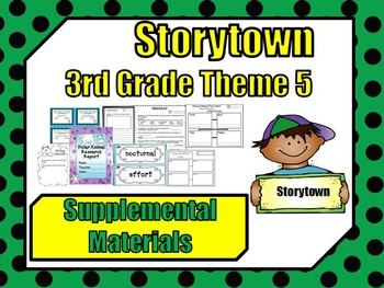 "Storytown 3rd Grade Theme 5 ""A Place For All"" Resources"