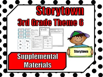 """Storytown 3rd Grade Theme 6 """"Discoveries"""" Resources"""