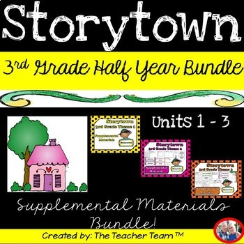 Storytown 3rd Grade Themes 1-2-3 Half Year Bundle Resources