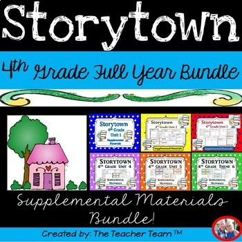 Storytown 4th Grade Theme 1-6 Full Year Resources