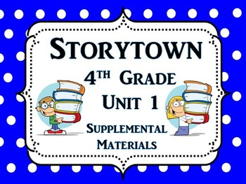 """Storytown 4th Grade Theme 1 """"Facing Challenges"""" Resources"""