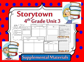 Storytown 4th Grade Theme 3 Natural Changes Resources