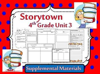 Storytown 4th Grade Theme 3 ~ 2008 version Supplemental Resources