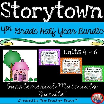 Storytown 4th Grade ~ Themes 4-5-6  Supplemental Resources Bundle