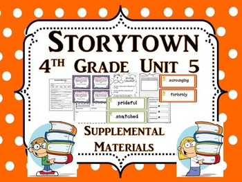 """Storytown 4th Grade Theme 5 """"A New Home"""" Activities Bundle"""