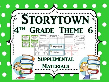 "Storytown 4th Grade Theme 6 ""Exploring Our World"" Resources"
