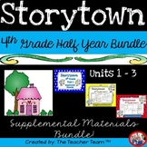 Storytown 4th Grade Theme 1-2-3 Half Year Bundle Resources