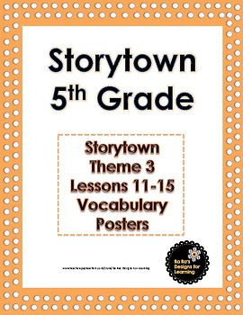 Storytown 5th Grade Robust Vocabulary Theme 3 Posters