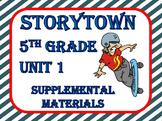 Storytown Grade 5 | Storytown 5th Grade | Theme 1 Printables