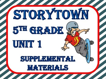 "Storytown 5th Grade Theme 1 ""Finding A Way"" Resources"
