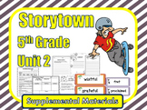 Storytown 5th Grade Theme 2 Printables