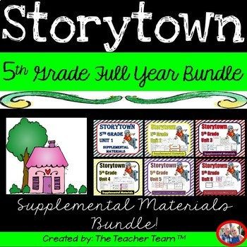 Storytown 5th Grade Theme 1-6 Full Year Resources
