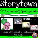 Storytown 5th Grade Theme 1-2-3 Half Year Bundle Resources