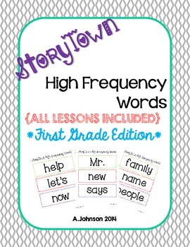 Storytown FIRST GRADE High Frequency Words {All Units}