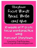 Storytown Focus Words Read, Write and Glue
