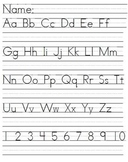 Storytown Grade 1 Review Letters Handwriting page
