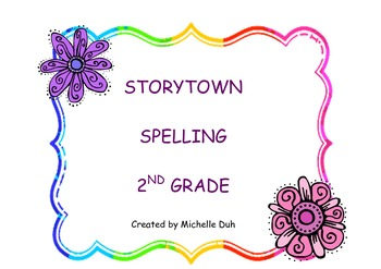 Storytown Grade 2 Spelling Center Activity