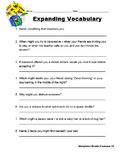Storytown Grade 2 Theme 3 Expanding Vocabulary Worksheets