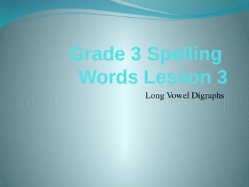 Storytown Grade 3 Lesson 3 Spelling Words