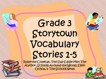 Storytown Grade 3 Theme 1 Vocabulary Power Points Stories 1-5 CCSS Aligned