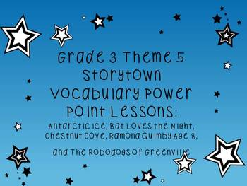 Storytown Grade 3 Theme 5 CCSS Aligned Vocabulary Power Points Stories 21-25