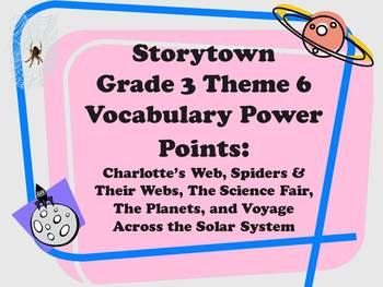 Storytown Grade 3 Theme 6 CCSS Aligned Vocabulary Power Po